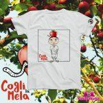 """""""Cogli la mela"""", la t-shirt di Emiliano Perani per sostenere i bambini boliviani"""